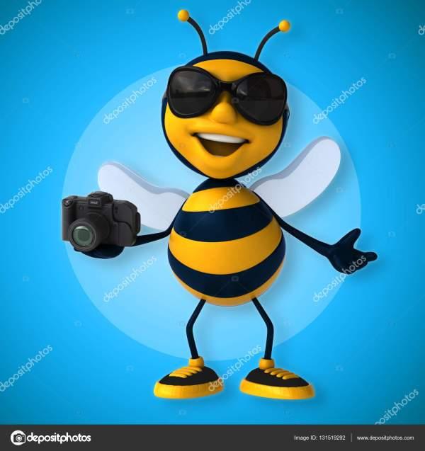 Смешные пчелы холдинг камеры — Стоковое фото © julos ...