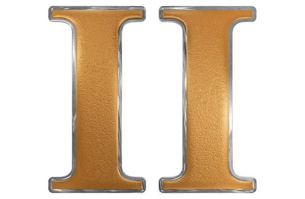 Римская цифра, unus, 1, 1, изолированные на белом фоне, 3d ...