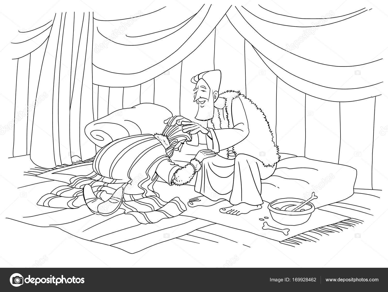 Jacob Deceives Isaac Coloring Pages Coloring Pages