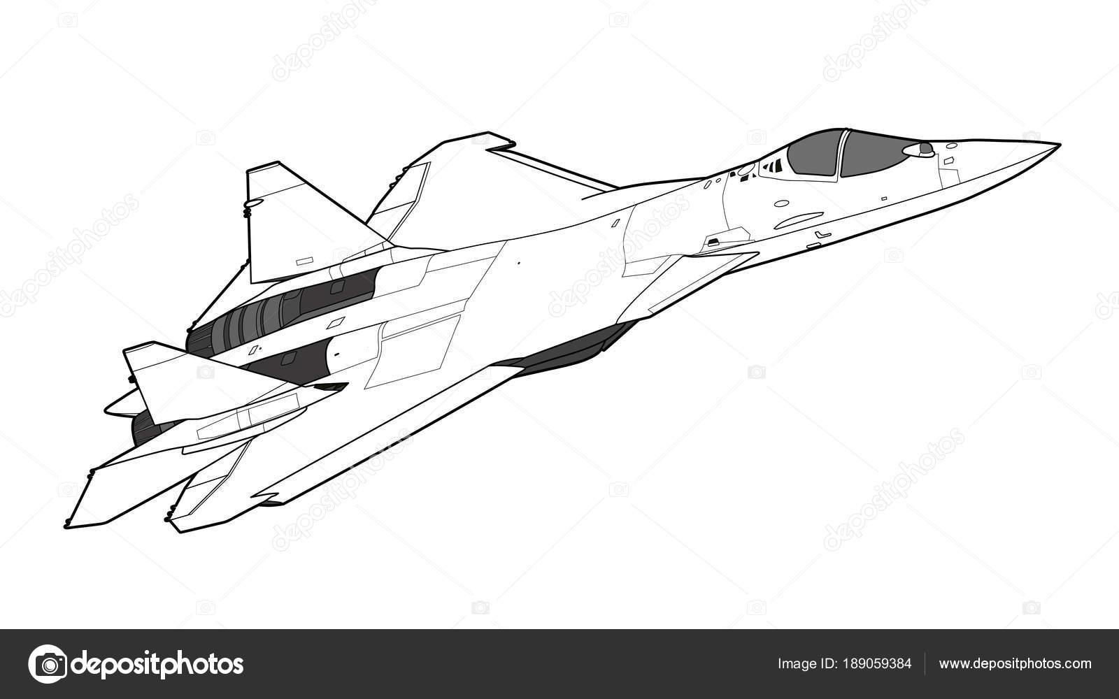 Moderne Russische Kampfjet Flugzeug