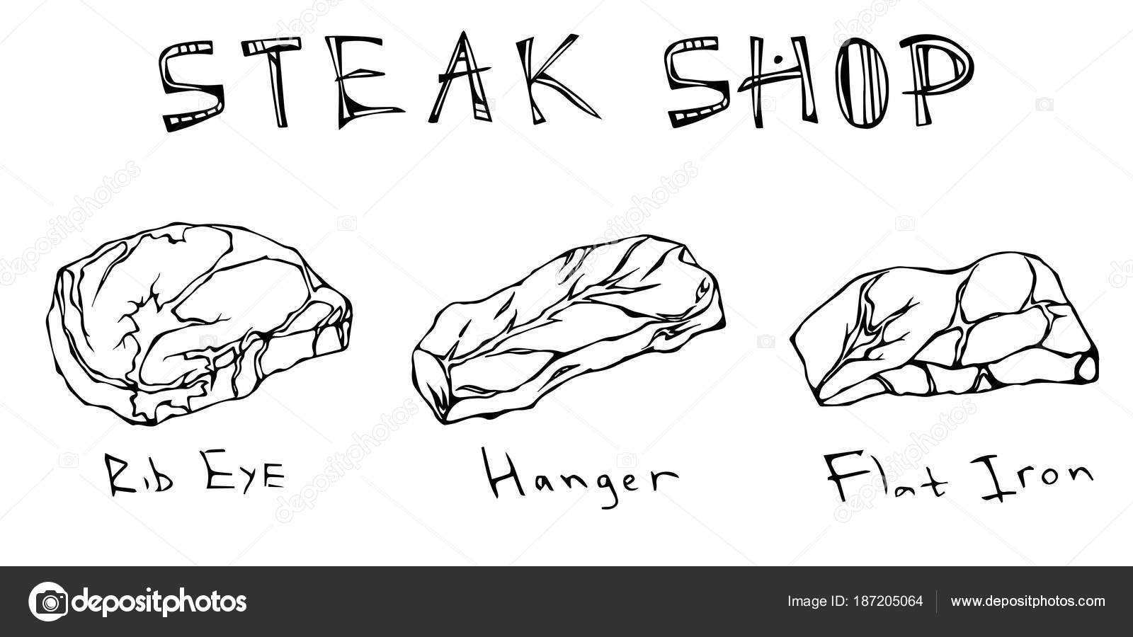 Most Popular Steak Types Set Beef Cuts Top Meat Guide