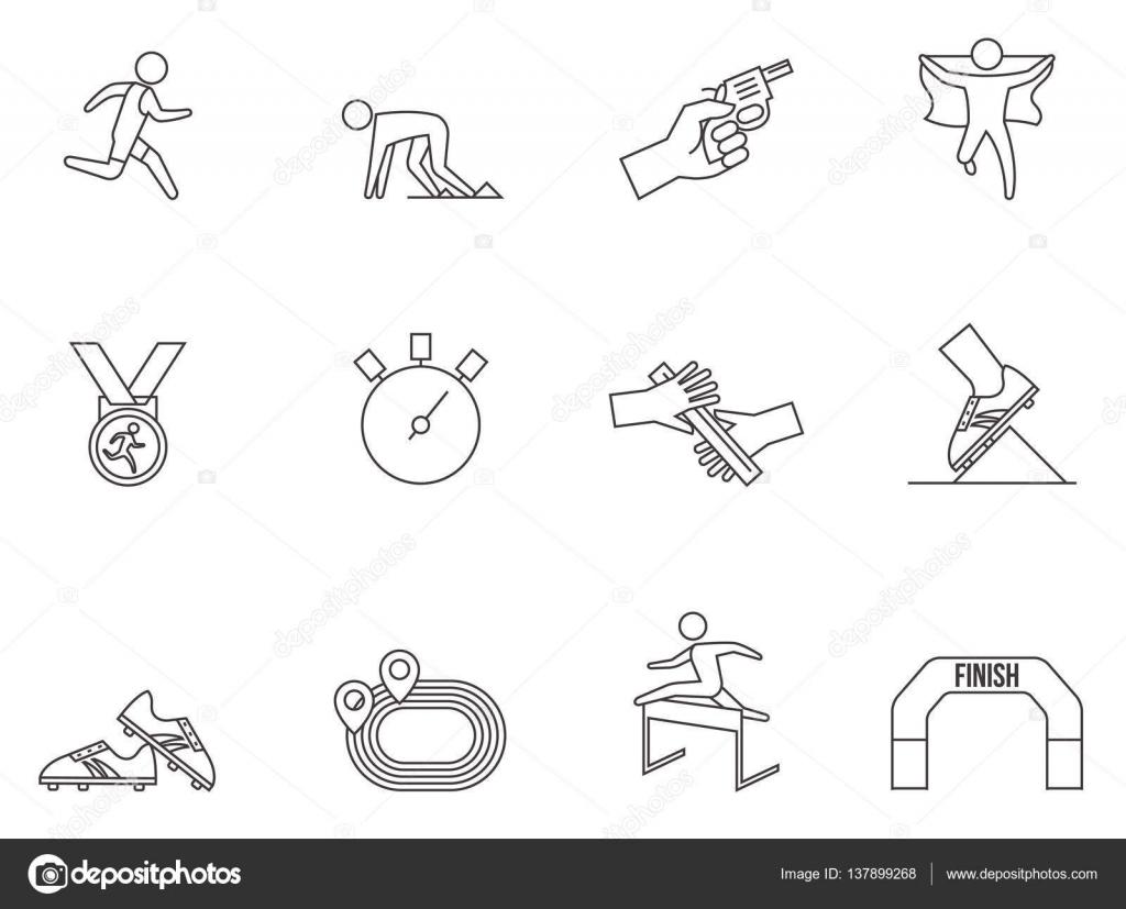 Fuhren Sie Symbole Wettkampfserie