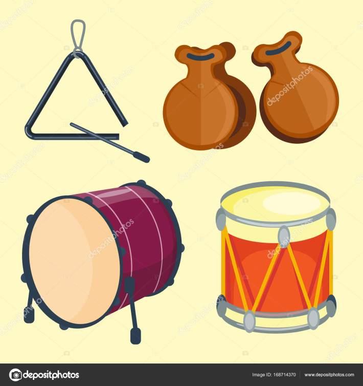 musikalischen holz rhythmus musik instrument serie drumset von