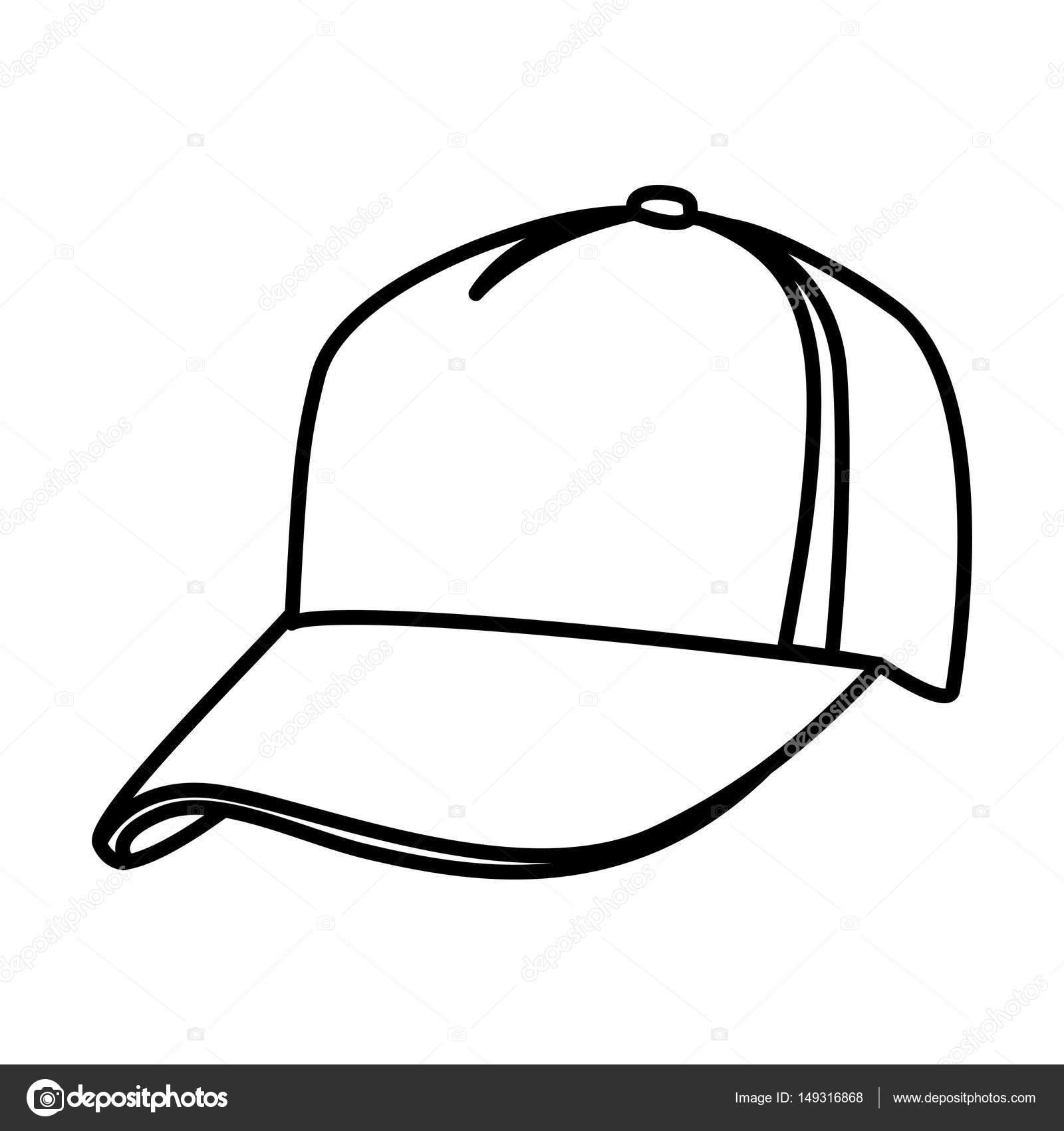 monochrome kontur des baseball cap