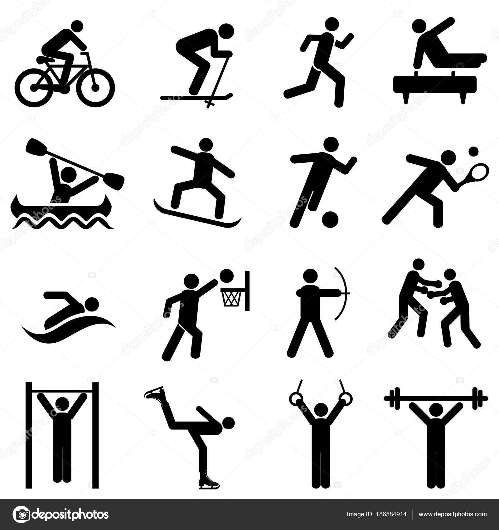 Sport Fitness Aktivitat Und Bewegung Symbole
