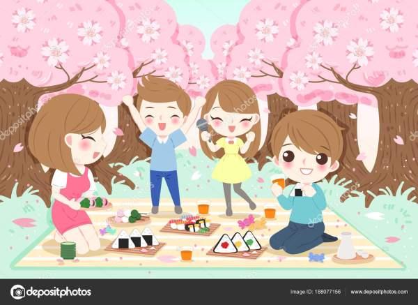 Семья на пикник — Векторное изображение © estherqueen999 ...