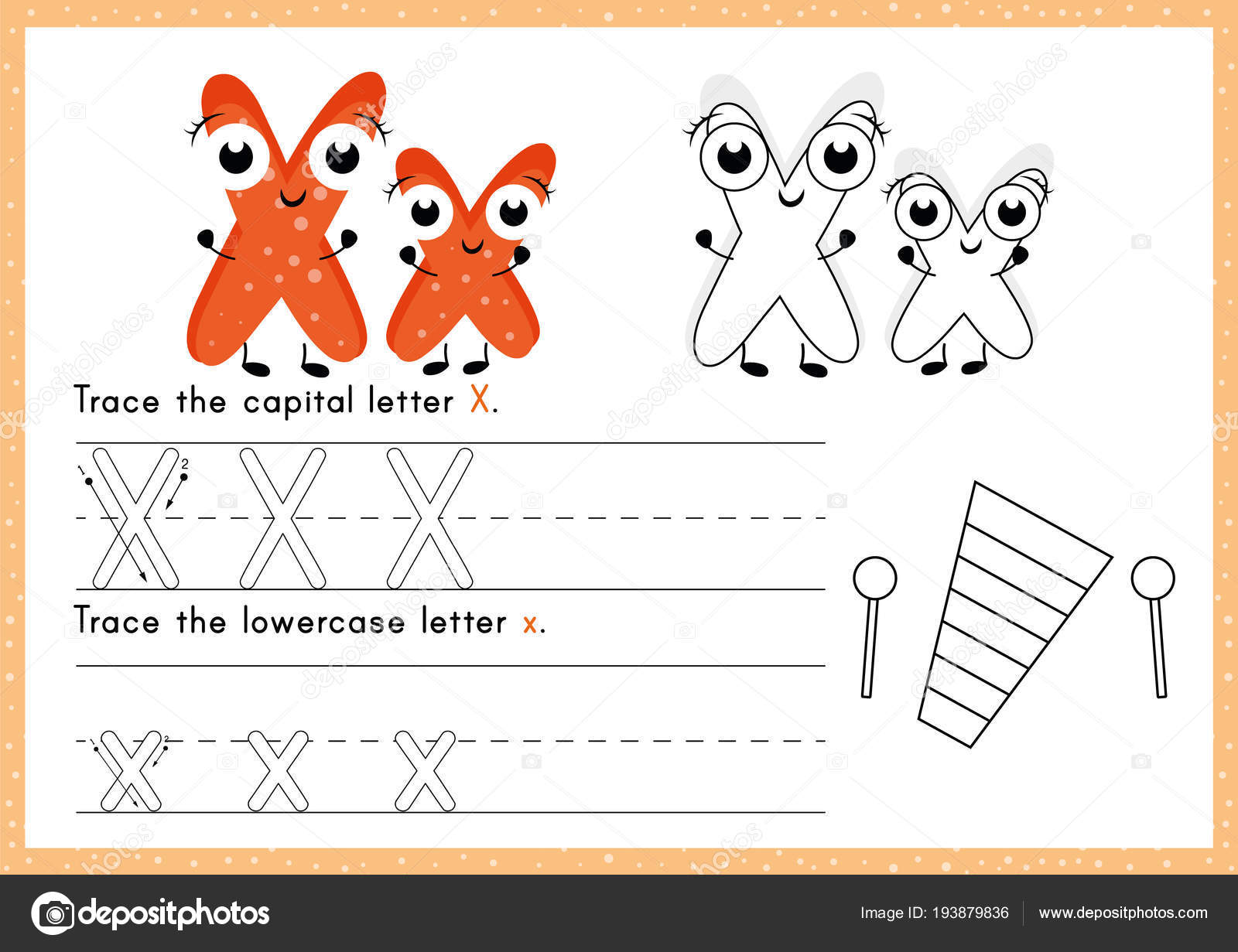 Alphabet Tracing Colouring Worksheet Writing Exercises