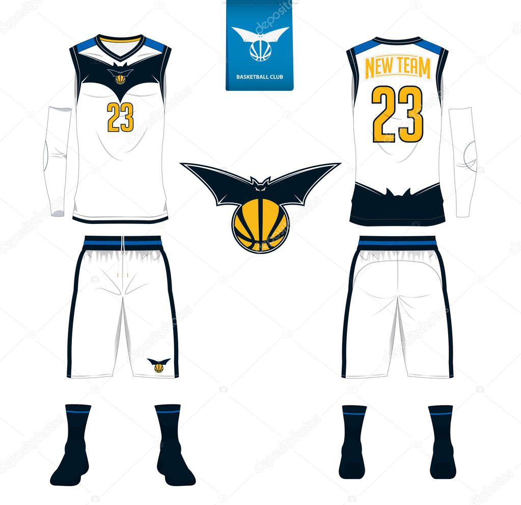 Download Basketball jersey, shorts, socks template for basketball ...