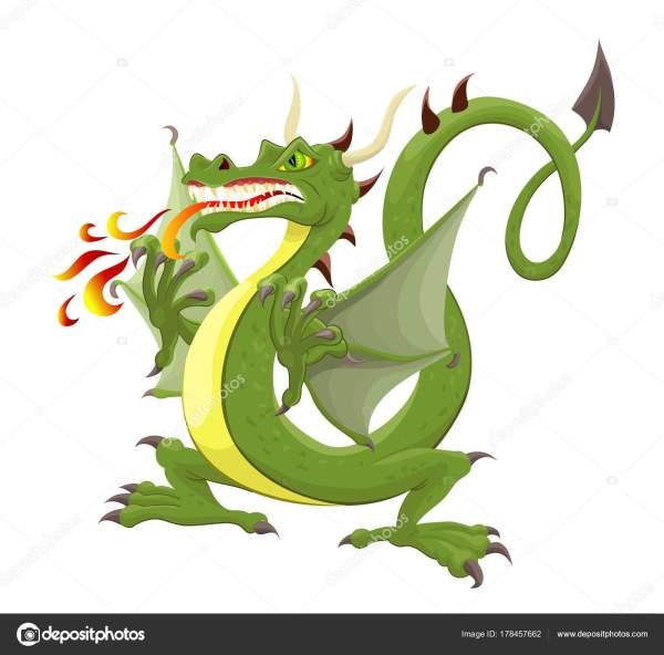 Векторный Файл Злой Дракон Векторное изображение