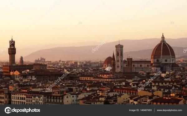 Флоренция ренессанс. Удивительный закат Панорама Флоренции ...