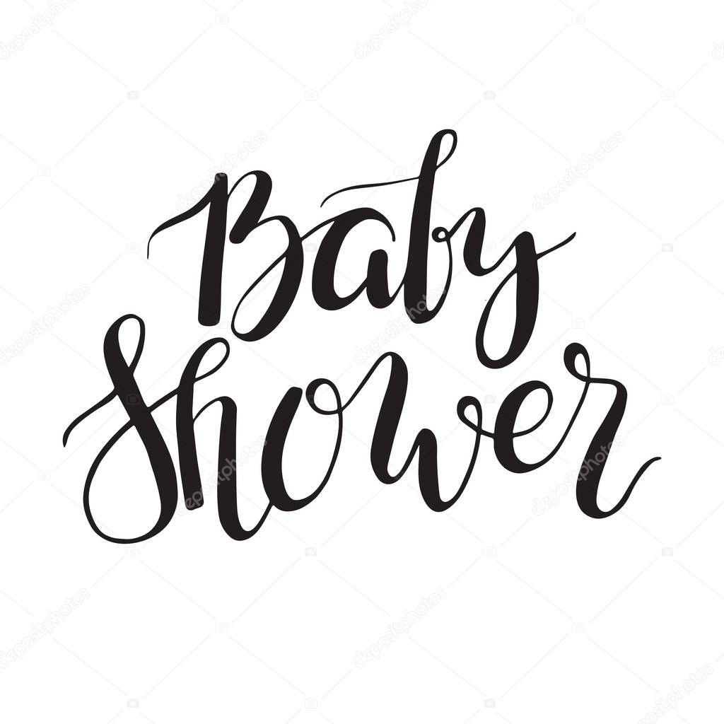 Baby Dusch Text Anpassade Bokstaver Inbjudan Till Bebis