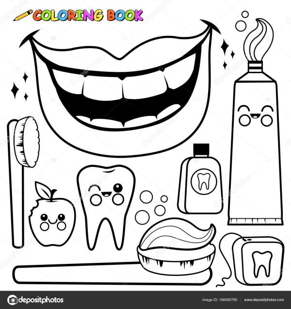 teeth coloring page # 10
