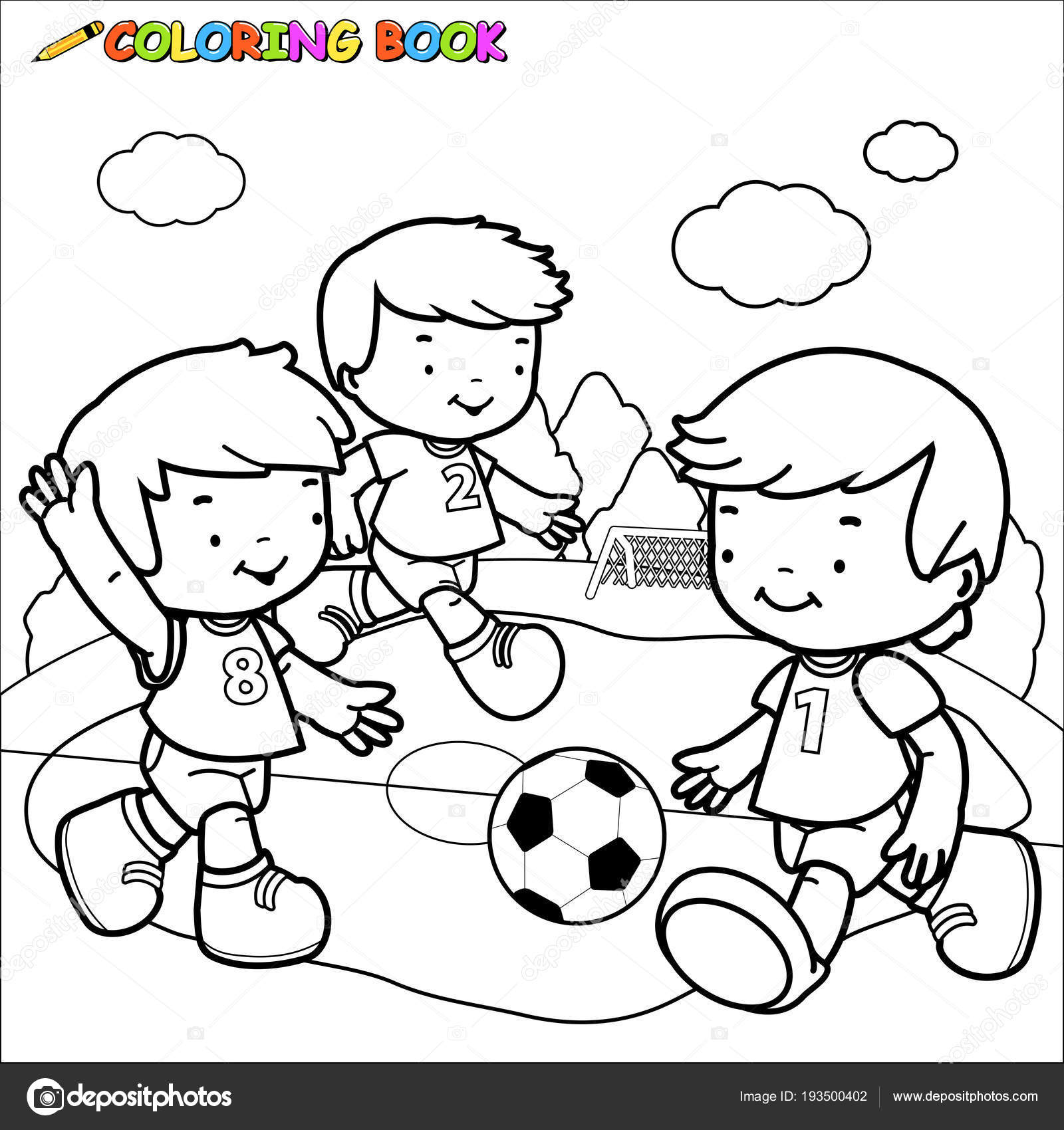 Dibujos Nino Jugando Al Futbol Para Colorear