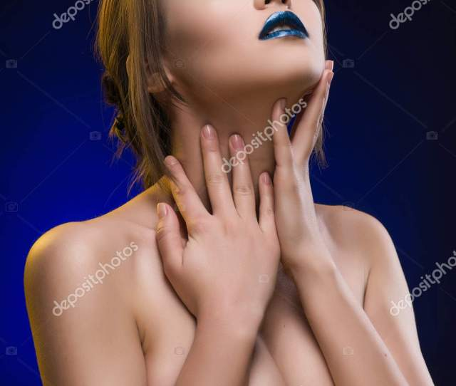 Beautiful Big Breasted Mixed Asian Caucasian Race Girl Stock Photo