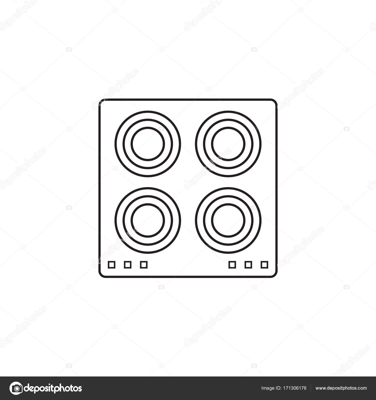 Electric Hot Plate Icon Cooking Panel