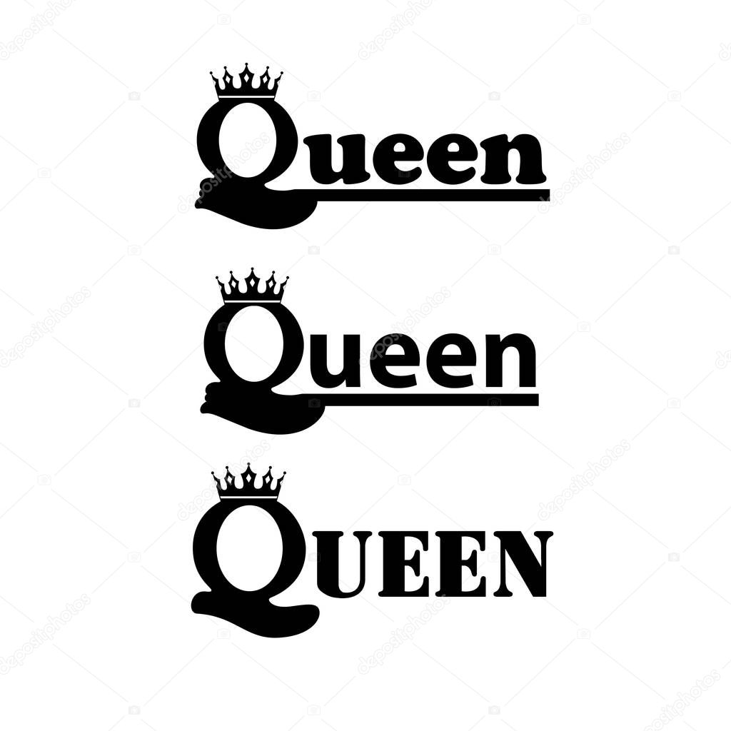 Logo Queen With Royal Crown