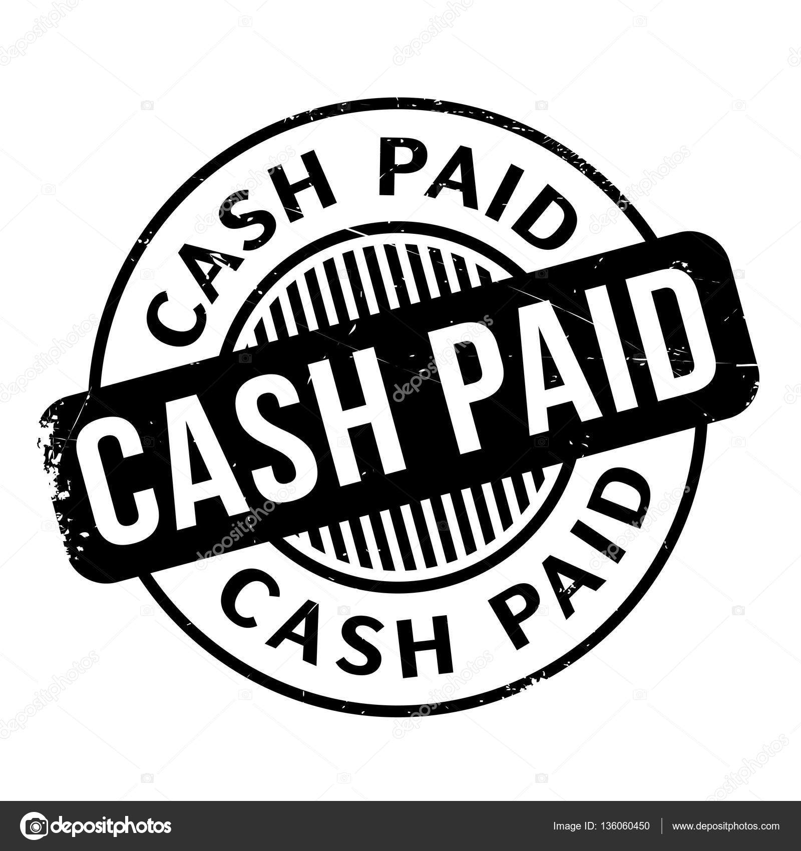 Cash Paid Rubber Stamp