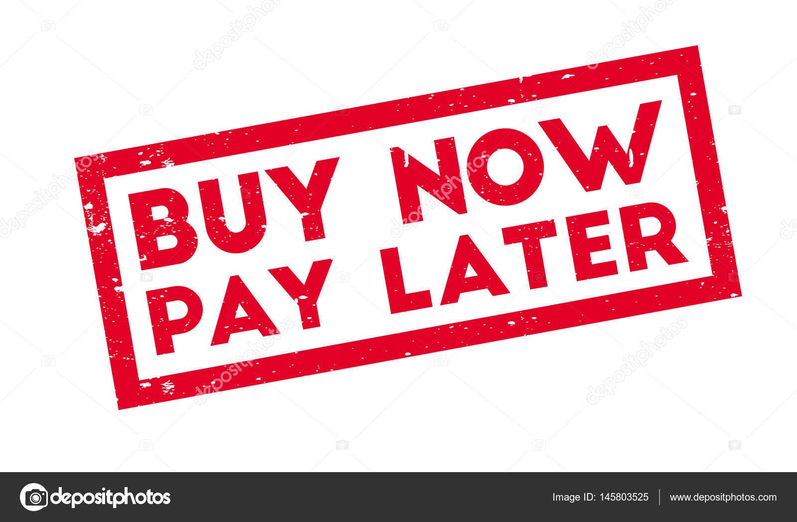 acheter maintenant payer plus tard le timbre en caoutchouc image vectorielle