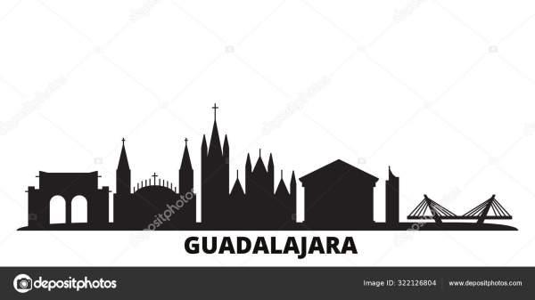 Мексика, Гвадалахара изолированные векторные иллюстрации ...