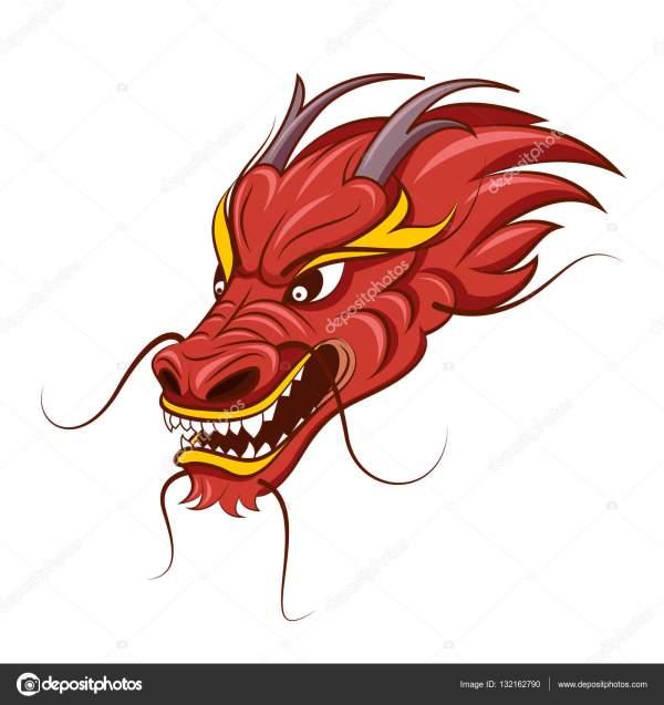 Китайский дракон векторные иллюстрации Векторное