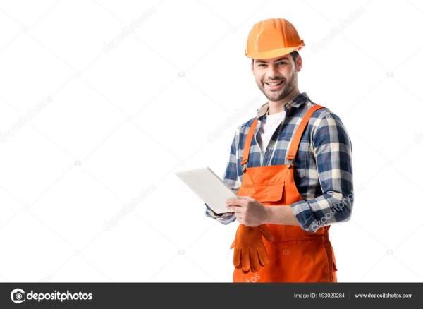 Sonriente Constructor General Color Naranja Casco Con ...