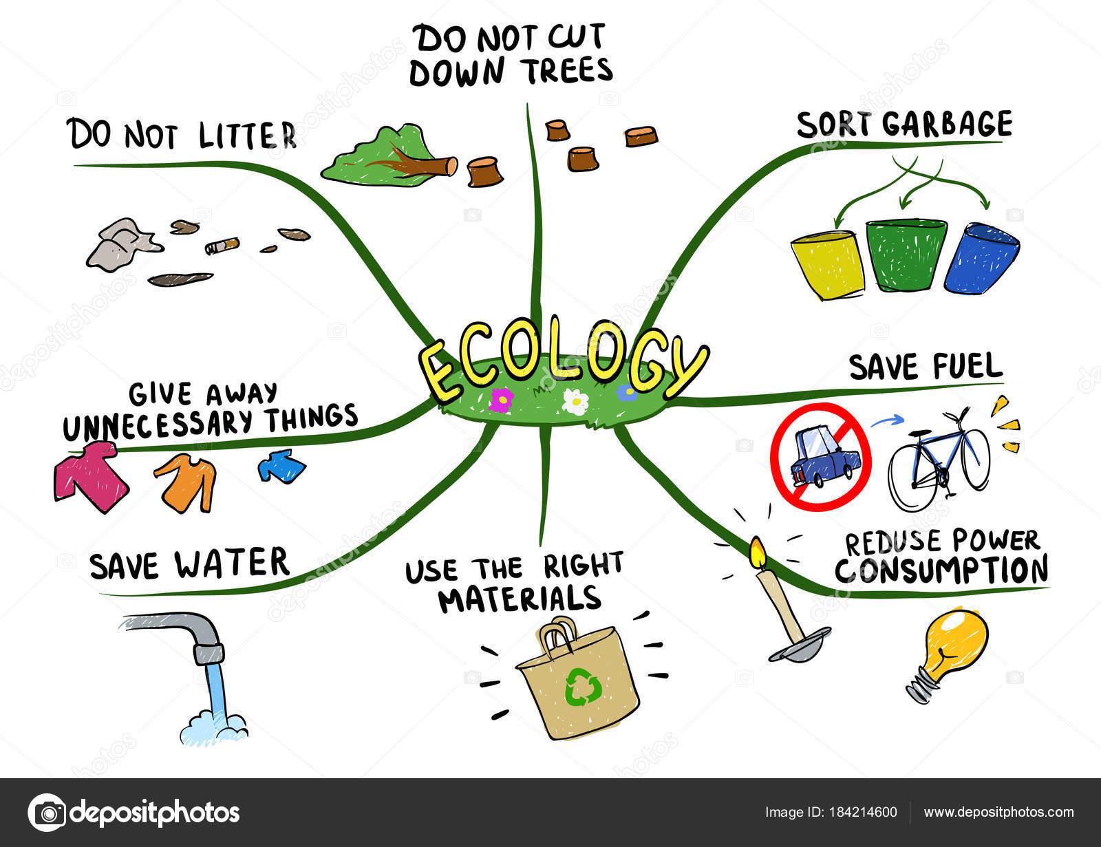 Mind Map Zum Thema Okologie Und Umweltschutz Mentale