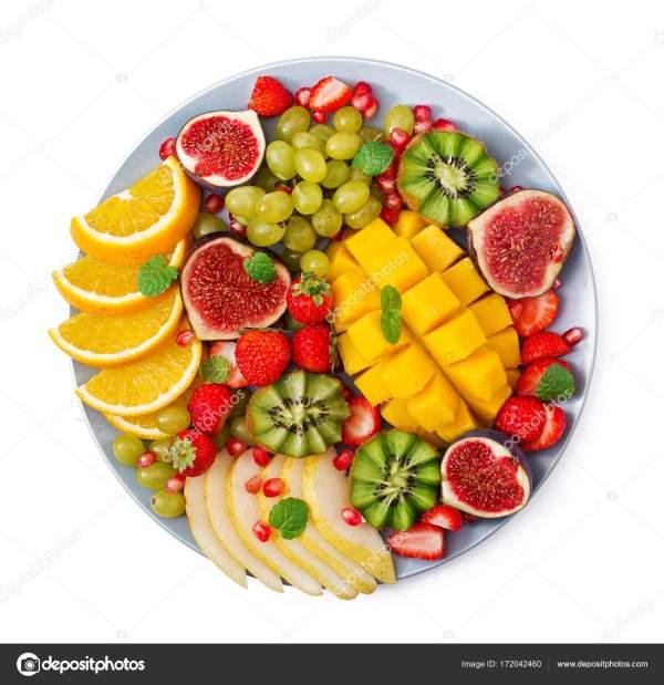 Блюдо с фруктами и ягодами — Стоковое фото © timolina ...