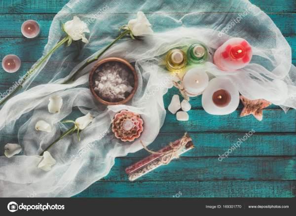 Tratamiento Spa con decoración — Foto de stock ...