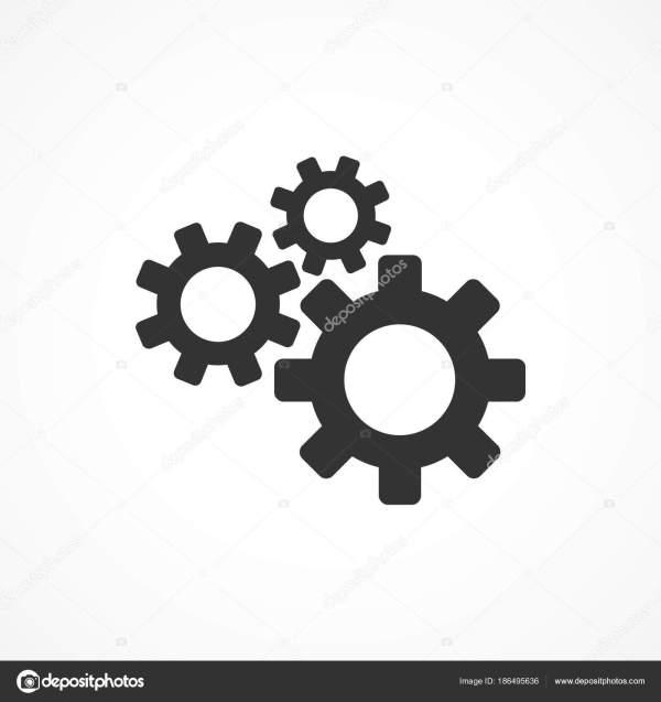 Значок шестеренки векторное изображение — Векторное ...