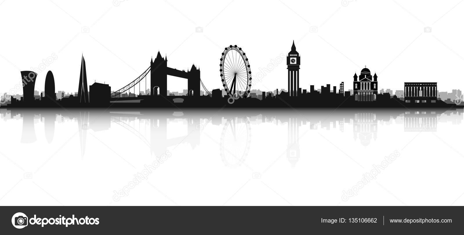 Silhouette De Skyline London