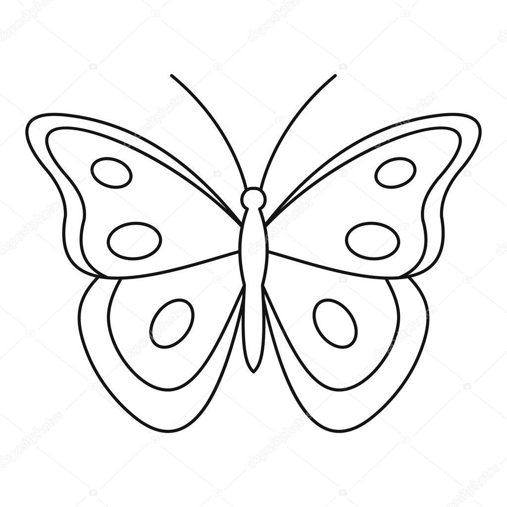 Contorno De Mariposa Para Colorear