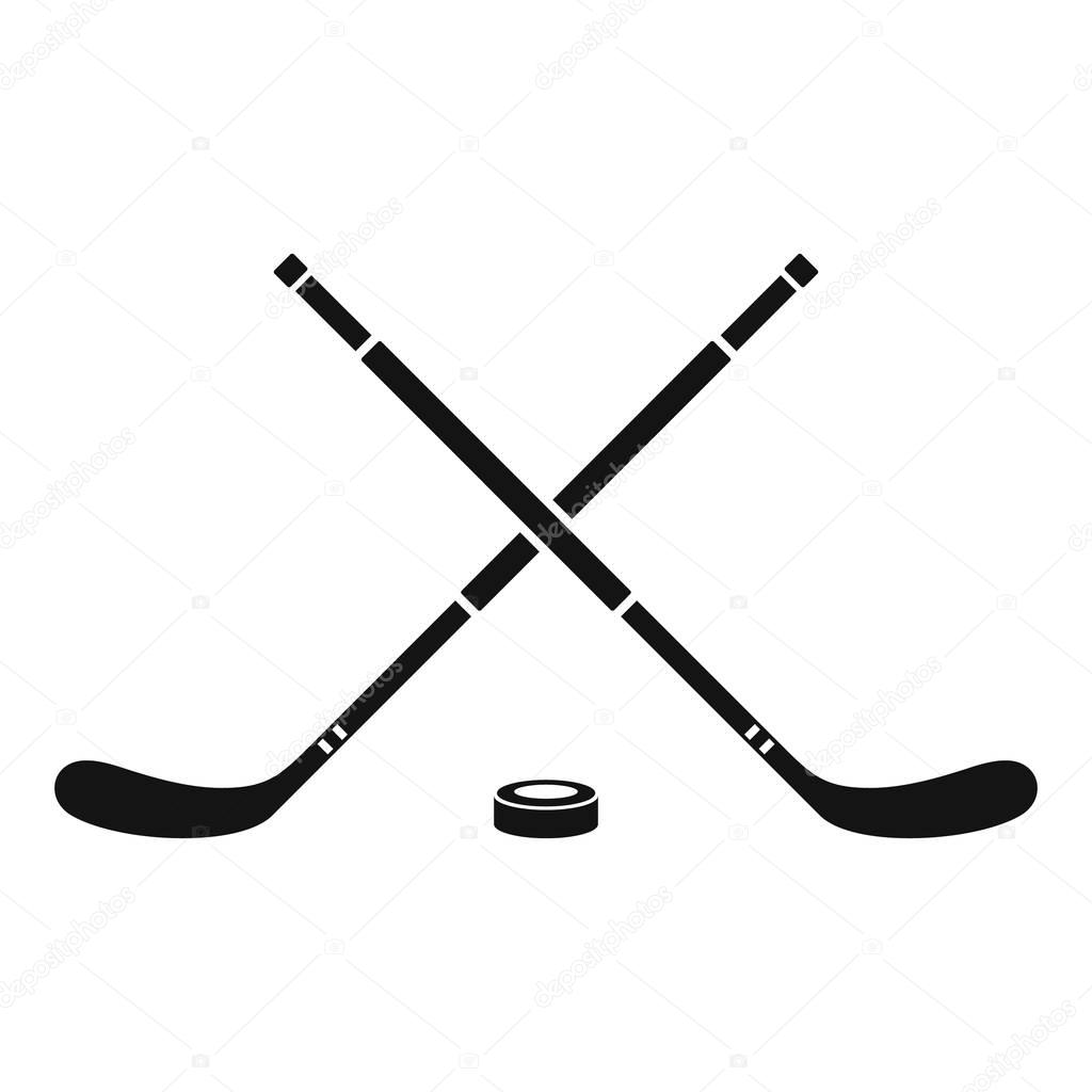 Hockey Icon Simple Style