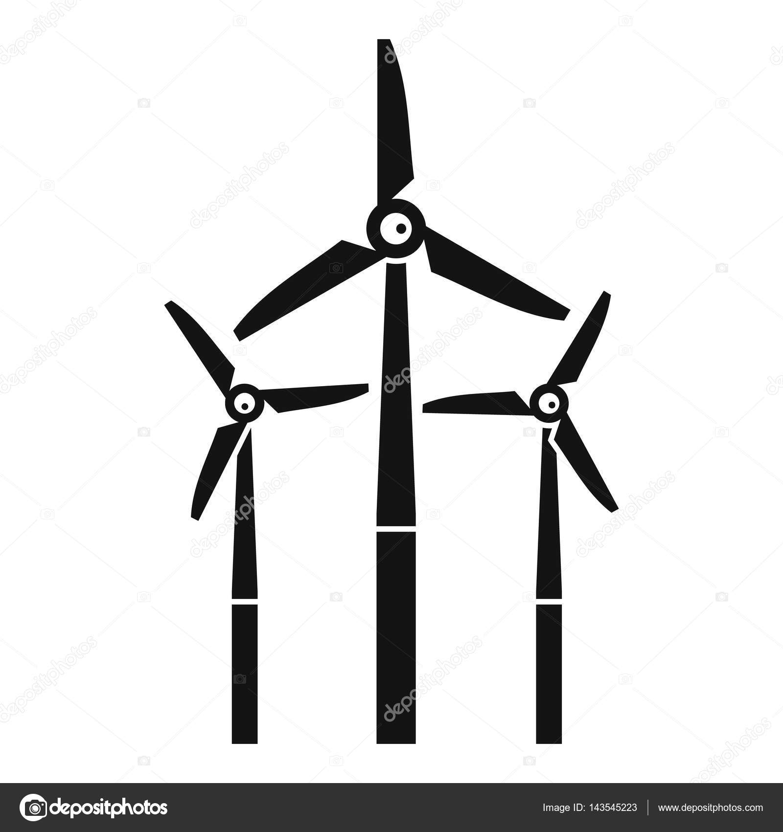 Windmill Icon Simple Style