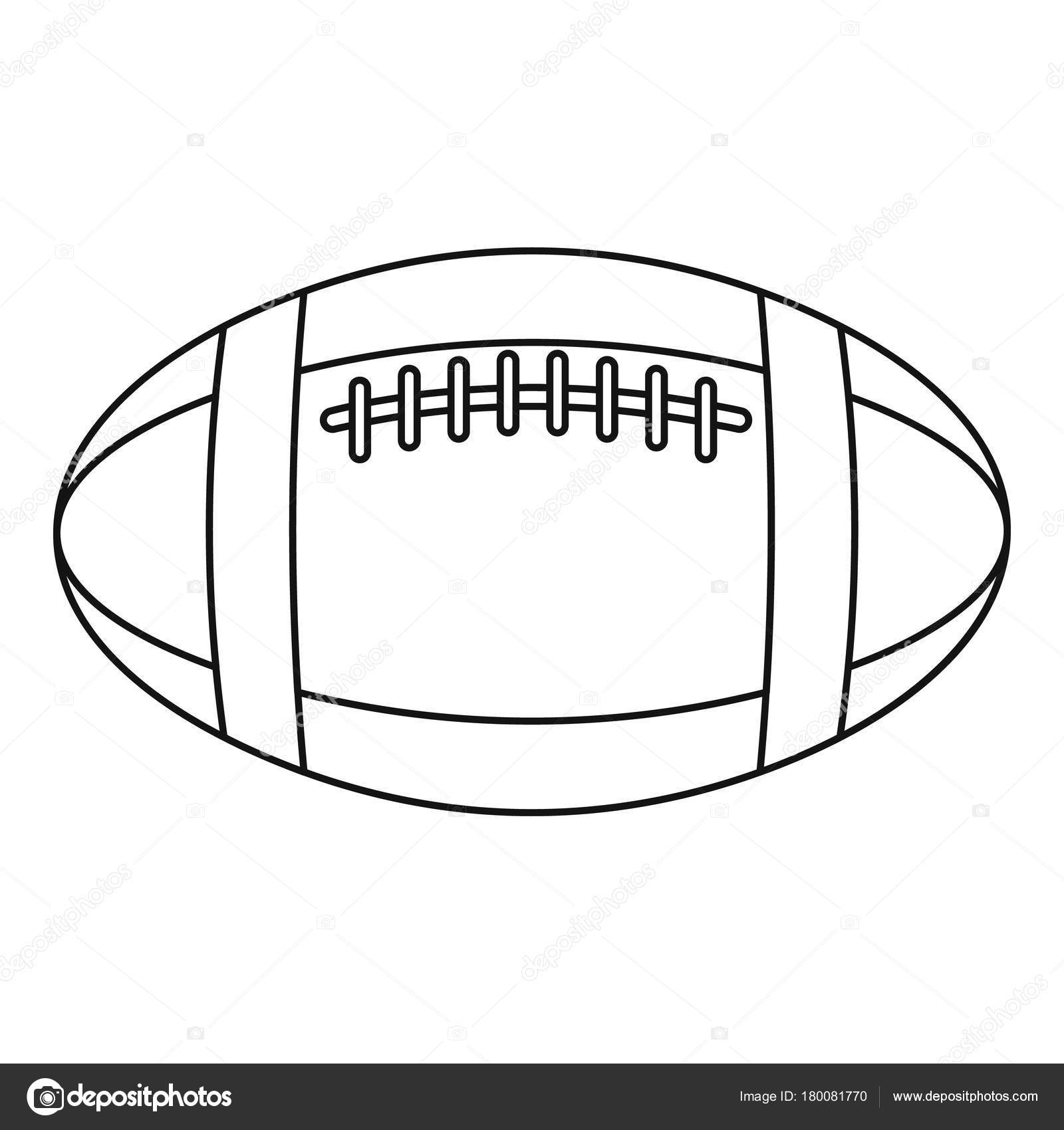 Football Or Rugby Ball Icon Outline Style