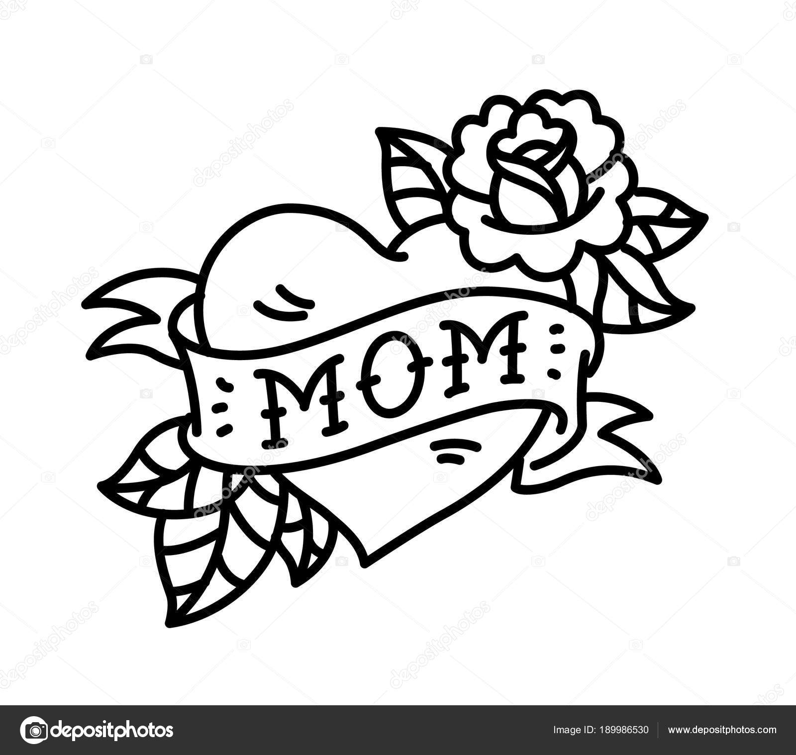 Tatuaggio Con Scritta Della Mamma Tatuaggio Cuore Fiore