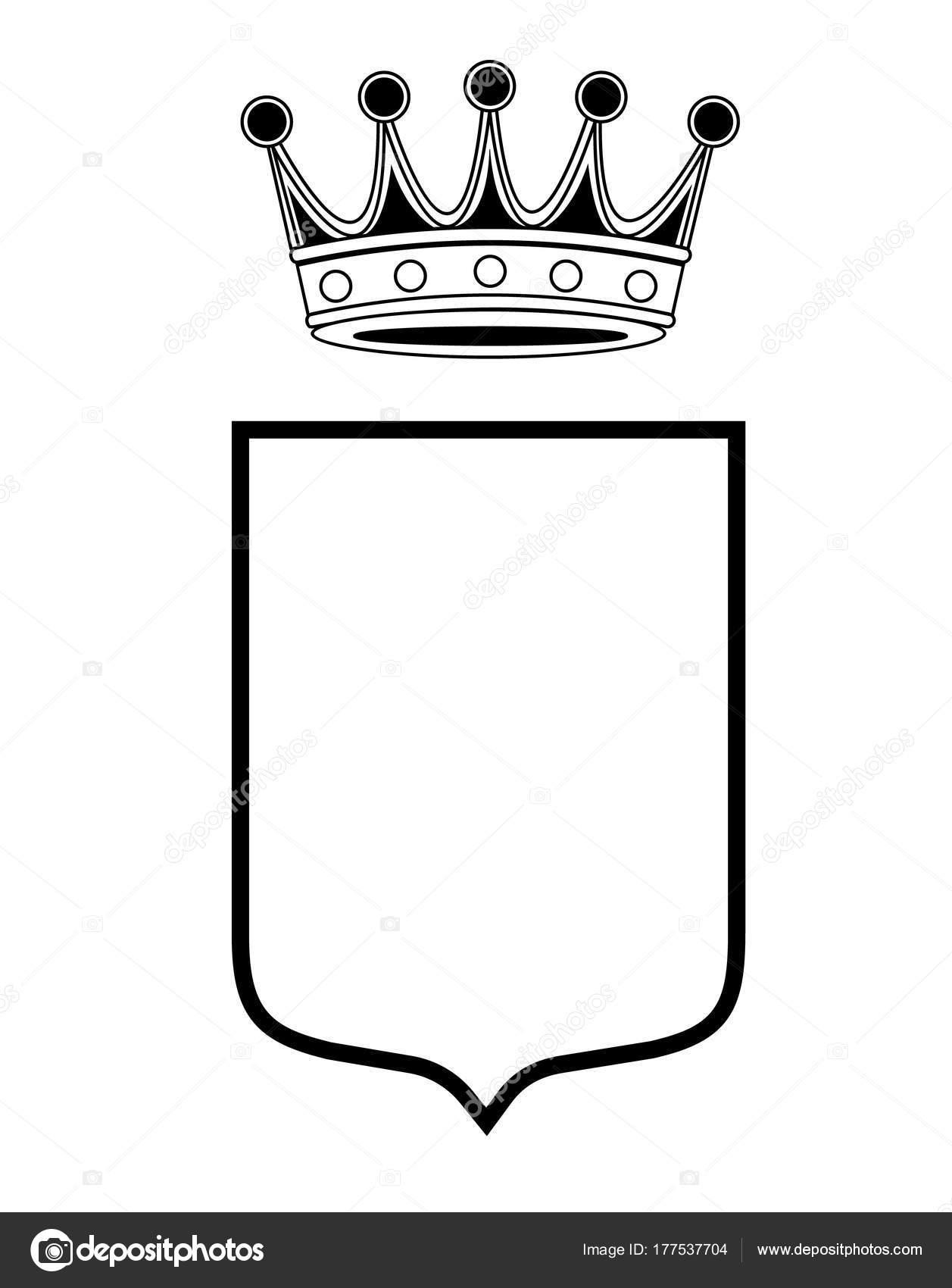 blank shield vector