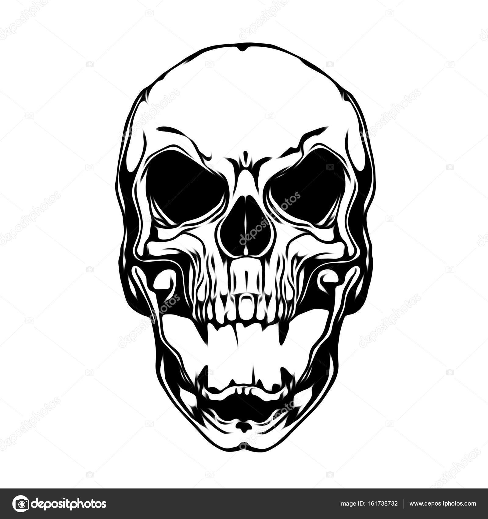 Evil Skull Illustration