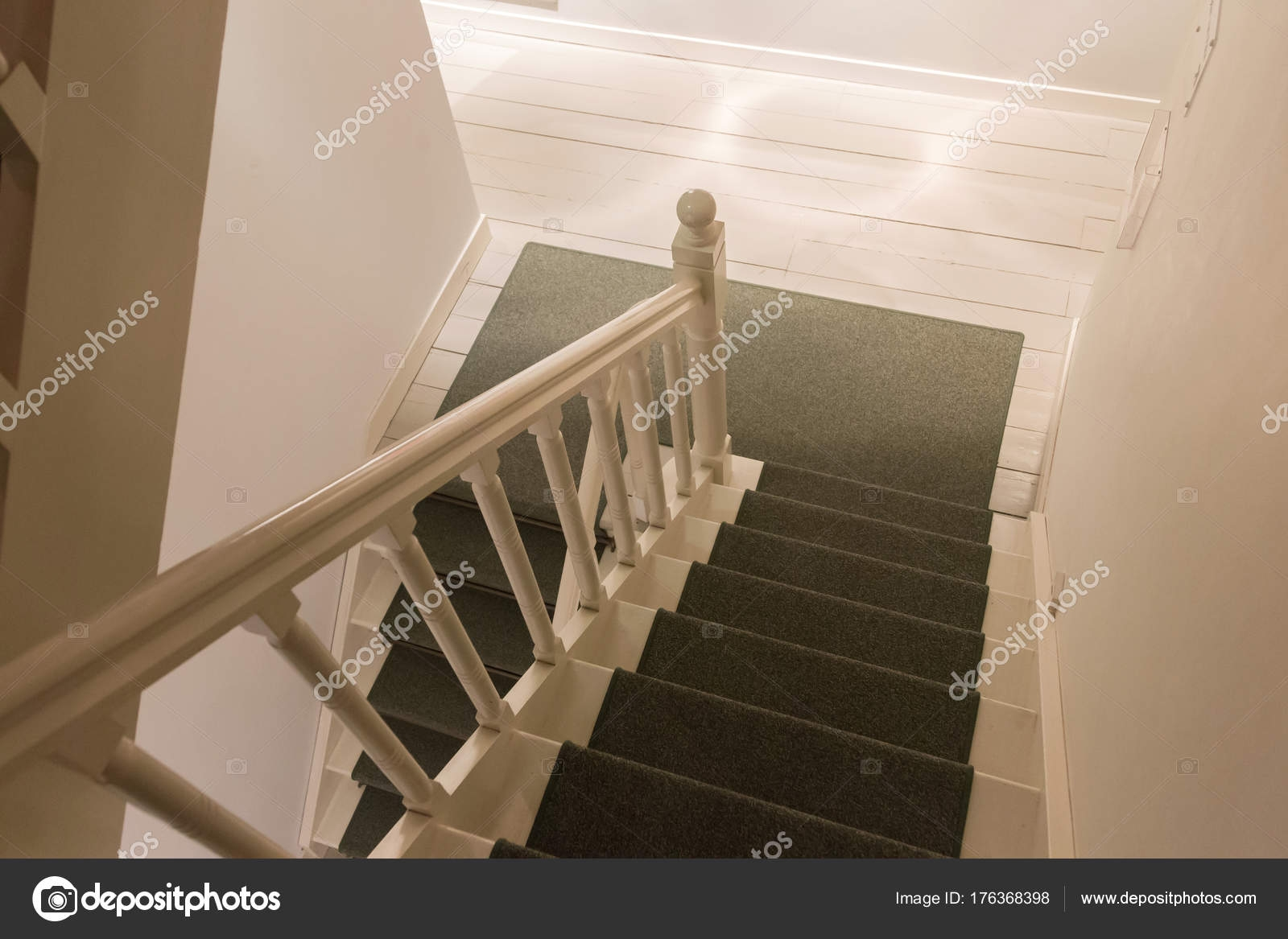 White Stairs With Carpet White Wooden Stairs With Green Carpet   White Stairs With Carpet   Chocolate Brown   Oak   Solid Colour   Colour   Landing