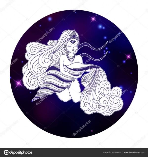 знак Зодиака водолея — Векторное изображение © littlepaw ...