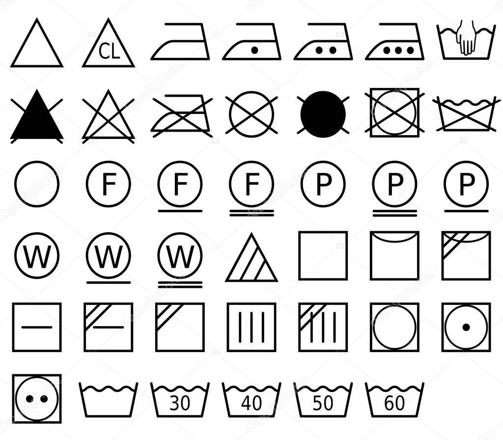 Ein Wasche Symbol Auch Genannt Ein Pflegesymbol