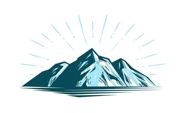 Природа, экология, экология логотип или этикетка. Икона ...