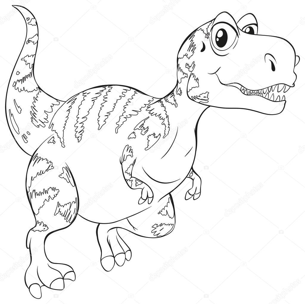 Doodle Animal Dinosaurio T Rex