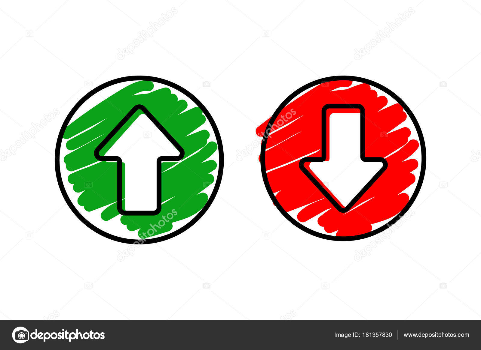 Set Icon Arrow Up And Down