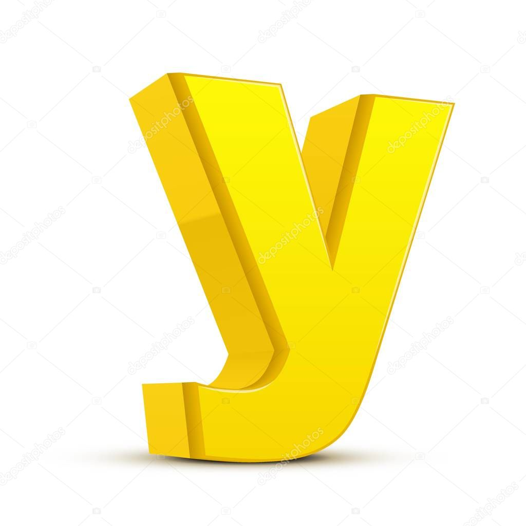 Lowercase Yellow Letter Y