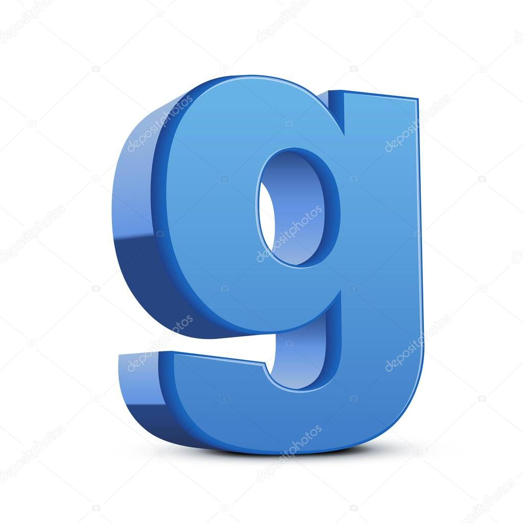Lowercase Blue Letter G