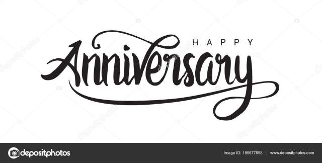 Happy Anniversary Lettering Text Banner