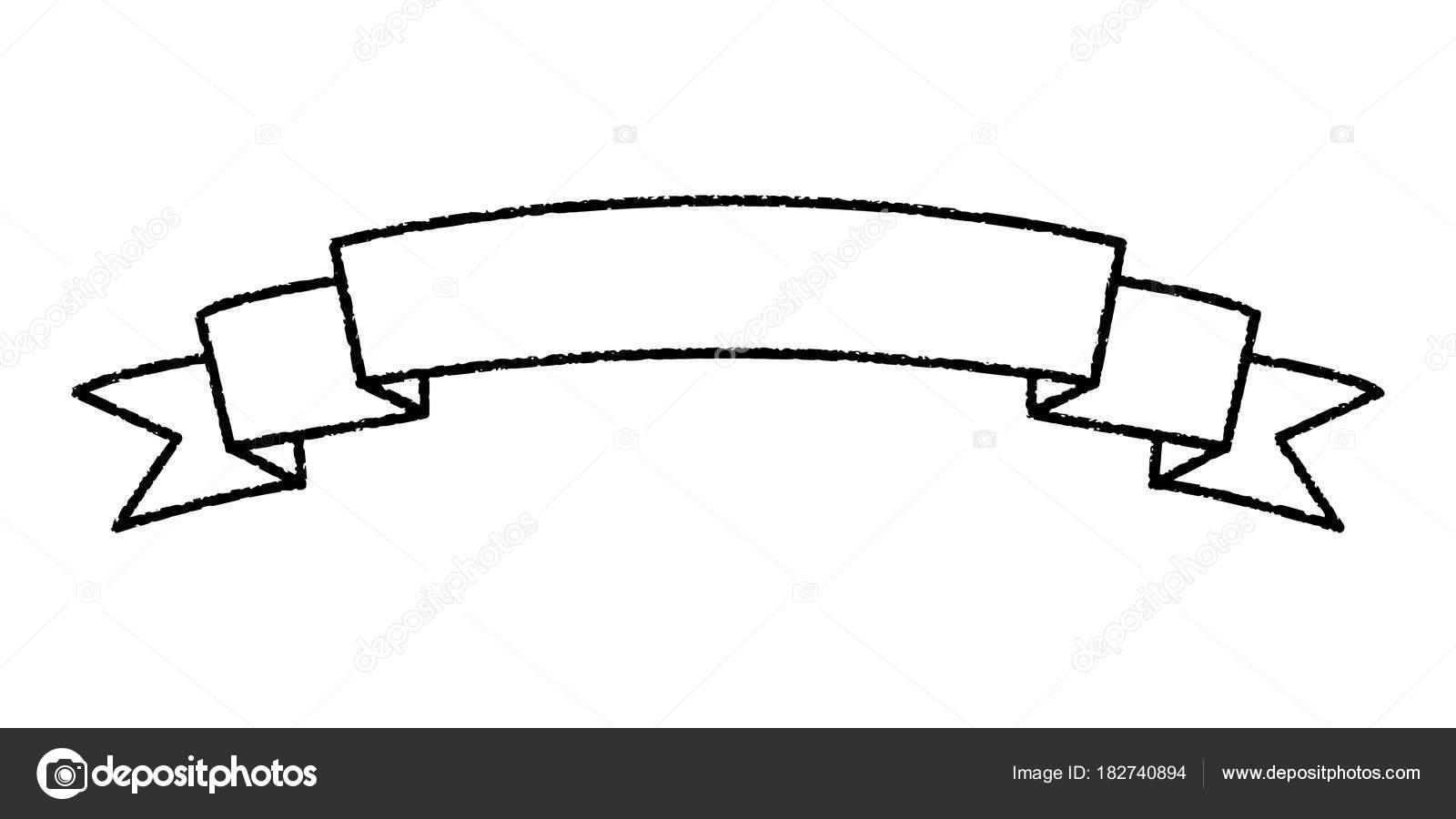 Single Blank Vintage Ribbon Banner Vector Logo Design