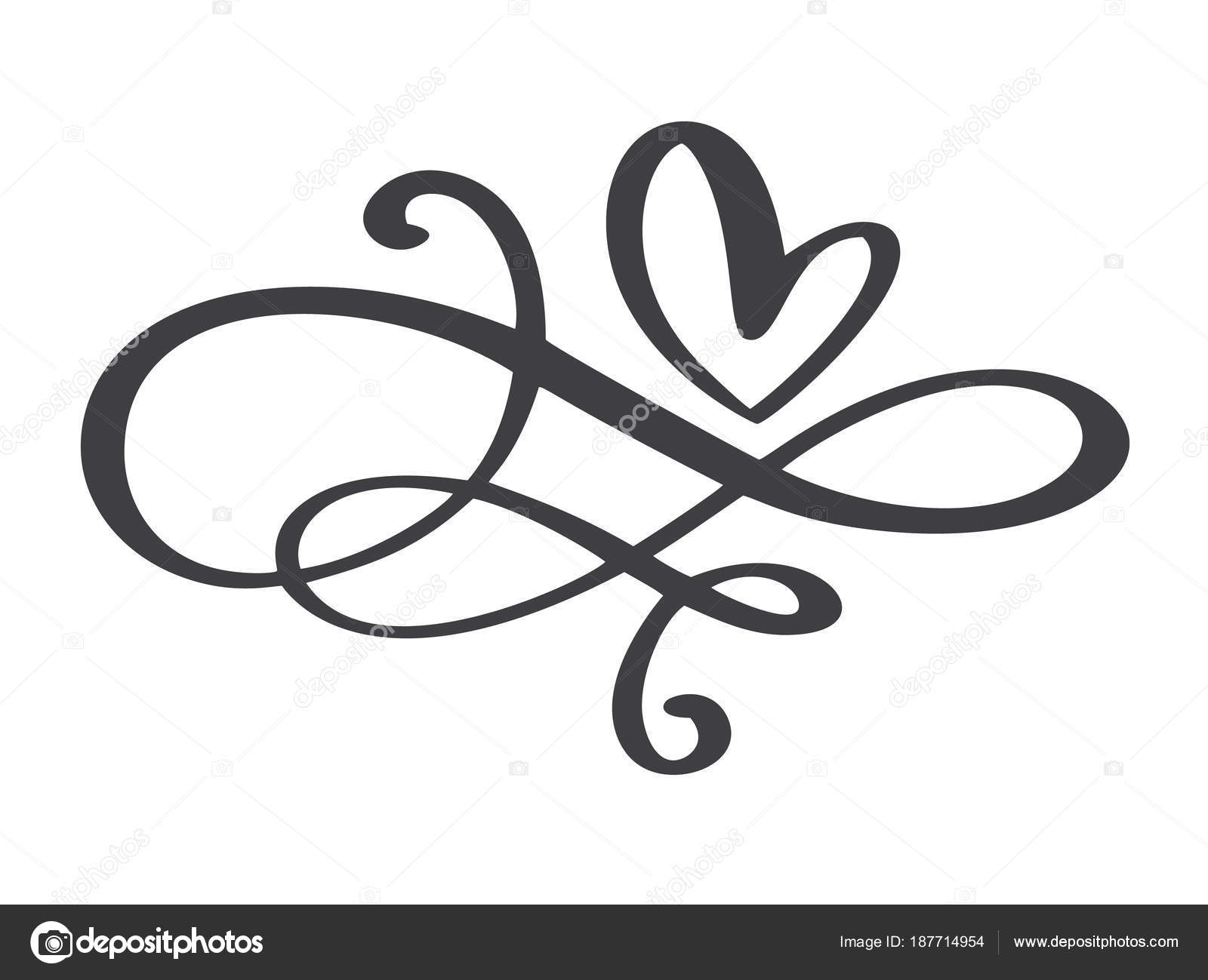 Heart Love Flourish Sign Forever Infinity Romantic Symbol