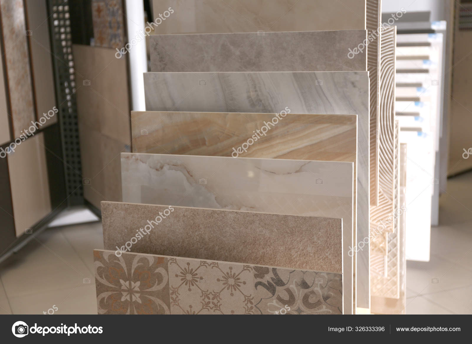 various ceramic tile samples store total wholesale stock photo image by c newafrica 326333396