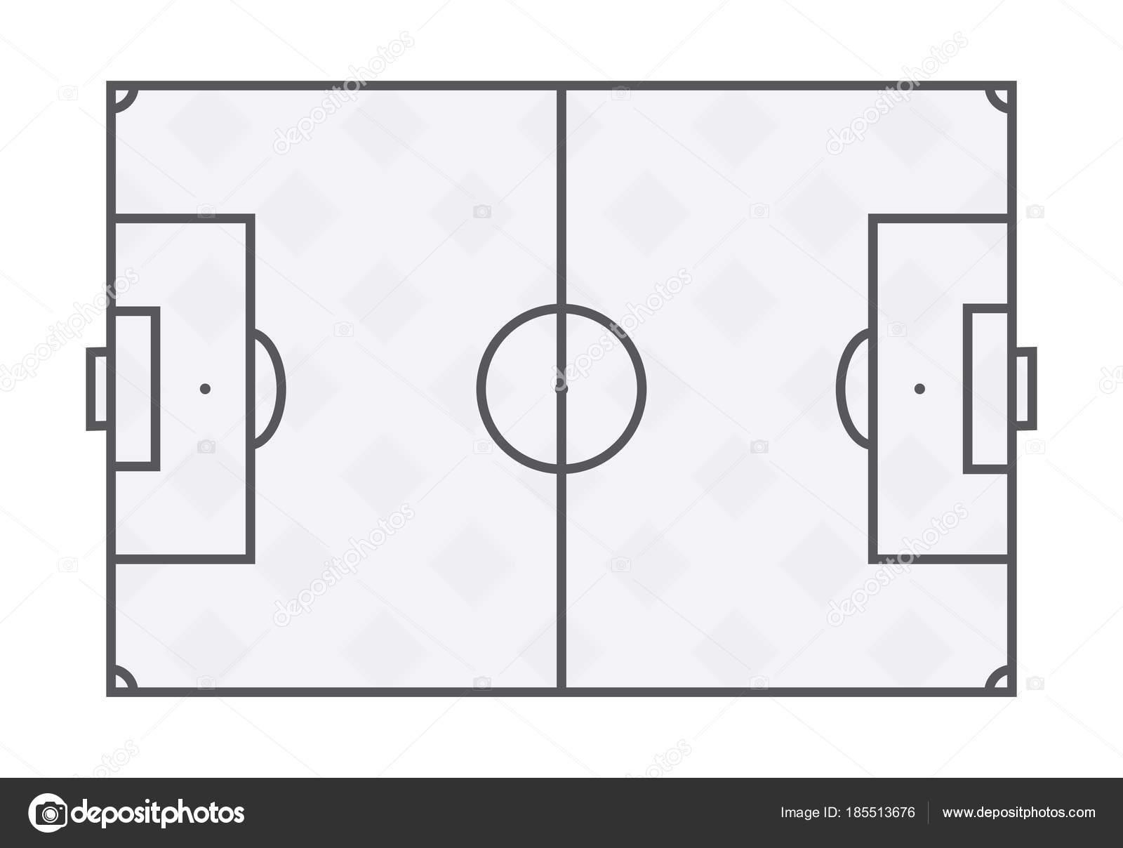 Fu Ball Feldlinien Auf Wei Em Hintergrund
